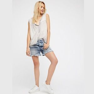 Free People | Relaxed & Patched Boyfriend Shorts